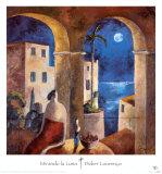 Regard sur la lune Affiches par Didier Lourenco