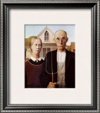 American Gothic Posters by Grant Wood