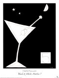 Black and White Martini I Prints by Mark Pulliam