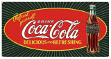 Coke Starburst Bottle Tin Sign