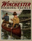 Winchester: palan de pêche Plaque en métal