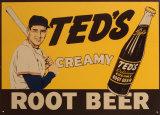 Cerveza de raíz Ted's Cartel de chapa