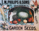 Phillips Seeds &amp; Vegetables Tin Sign
