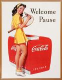 Coca Cola - Welcome Pause tennis Plaque en métal