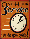 One Hour Service Blikskilt