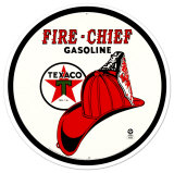 Texaco Fire Chief Tin Sign