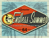 Endless Summer : authentique Plaque en métal