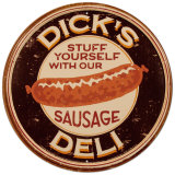 Dick&#39;s Sausage Plaque en m&#233;tal