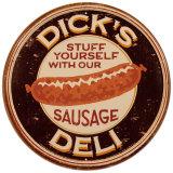 Salchicha Dick Cartel de chapa