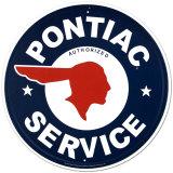 Logotipo de centro autorizado Pontiac Carteles metálicos