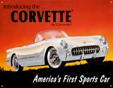 Corvette de 1953 Plaque en métal