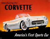 Chevy '53 Vette Tin Sign