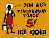 Jim Ed's Blackberry Punch Tin Sign