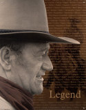 John Wayne - legend Plaque en m&#233;tal
