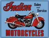Indian Sales & Service Tin Sign