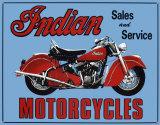 Indian Sales & Service Tin Sign