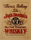 Jack Daniel's Whiskey Blikskilt