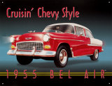 Cruisin' Chevy Style Placa de lata