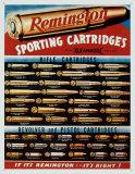 Cartuchos deportivos Remington Cartel de chapa
