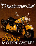 Indian Roadmaster Placa de lata