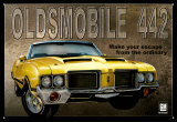 Olds 442 Tin Sign