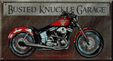 Busted Knuckle Bike Tin Sign