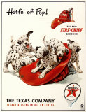 Texaco Hatful of Pep Tin Sign