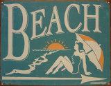 Pláž Plechová cedule