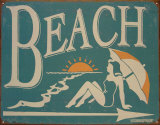 Beach Tin Sign