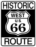 Historic Route 66 Plaque en métal