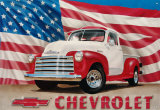 Chevy '51 Pick up Plakietka emaliowana