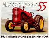 Massey Harris 55 Plakietka emaliowana