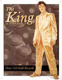 Elvis Gold Lame' Suit Tin Sign