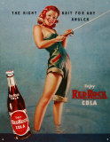 Red RockCola Tin Sign