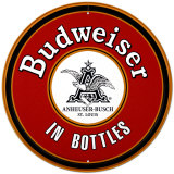 Budweiser In Bottles Placa de lata