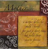Words to Live By, Mother Poster by Debbie DeWitt