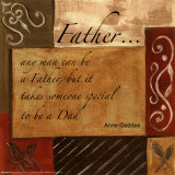 Words to Live By, Father Poster by Debbie DeWitt