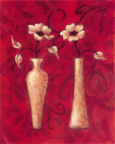 Happy Flowers Red IV Poster by Judy Kaufman