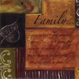 Words to Live By, Family Print by Debbie DeWitt