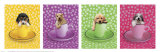 Chiots en tasses Poster par Keith Kimberlin