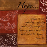 Words to Live By, Hope Posters by Debbie DeWitt