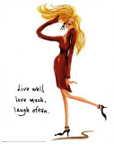 Wild Women: Live Well Posters by Judy Kaufman