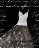 Robe de Soiree Blanche Prints