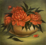 Traditional Coral Blooms II Prints by Judy Kaufman