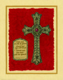 Celtic Cross, Ask and It Will Be Given Prints by Judy Kaufman