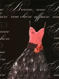 Robe de Soiree Rose avec le Corsage Posters