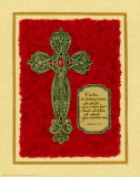 Celtic Cross, Faith Is Being Sure Print by Judy Kaufman