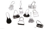 Ten Handbags Art by  Tina