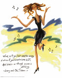 Wild Women: Dance Like Poster by Judy Kaufman