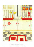 Mod Kitchen Posters by Chariklia Zarris